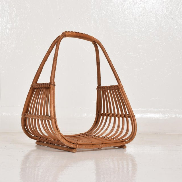 Franco Albini Italian Mid-Century Modern Magazine Rack Holder Basket For Sale - Image 10 of 11