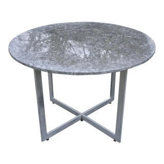 "42"" Round Modernist Marble Dining Table"