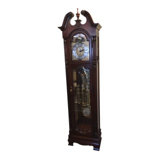 Howard Miller Burled Walnut Grandfather Clock For Sale