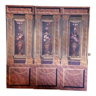Maitland Smith Hand Painted 3-Panel Screen