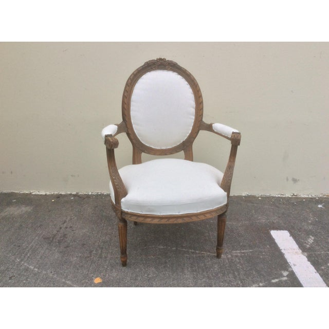 Early 20th Century French Arm Chair With Rounded Back For Sale - Image 5 of 10