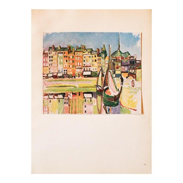 """1948 Raoul Dufy, Original Period Parisian Lithograph """"Le Port D'Honfleur"""" For Sale"""