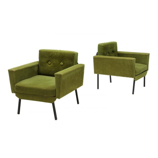 Italian Mid Century Modern Club Chairs - Pair - Image 1 of 5