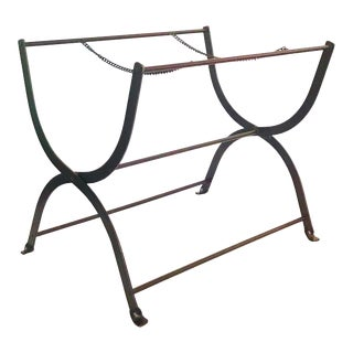 Vintage Cast Iron Suitcase Rack / Tray Holder For Sale