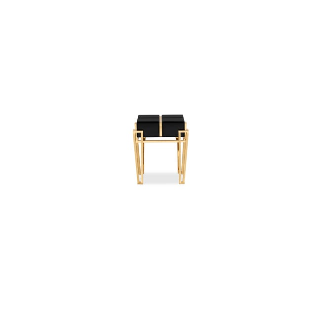 Gold Nubian Side Table From Covet Paris For Sale - Image 8 of 8