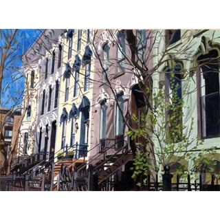 Webster Row Houses Giclee Print