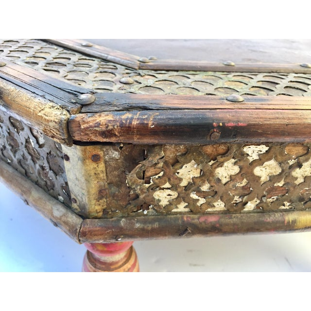 Anglo Raj Moorish Design Octagonal Low Coffee Table For Sale In Los Angeles - Image 6 of 12