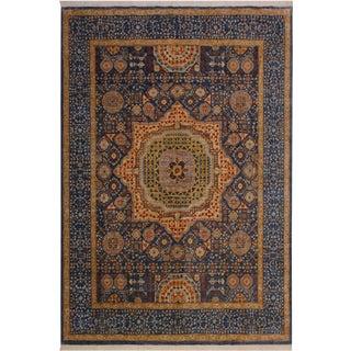 "Mamluk Al Blue/Tan Wool Rug - 8' X 9'8"" For Sale"
