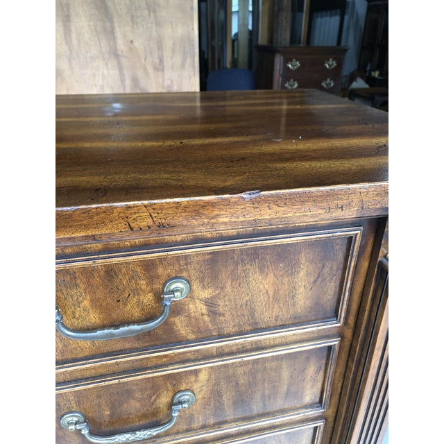 Hollywood Regency 1980's Vintage National Mt. Airy Drop Front Chest Desk For Sale - Image 3 of 11