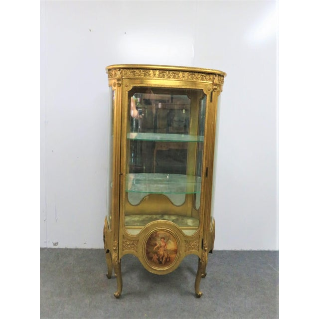 Vernis Martin French Curio Cabinet For Sale - Image 10 of 10