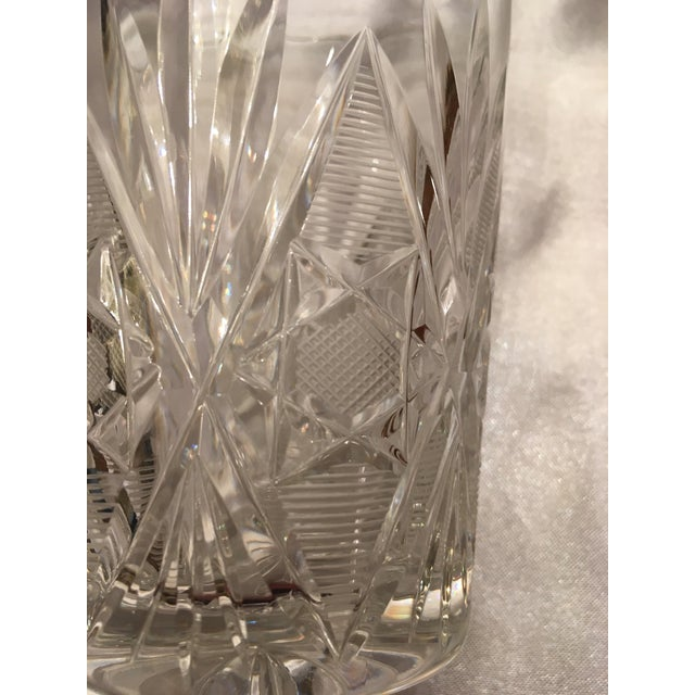 Vintage Crystal Water Glass- Set of 8 For Sale In Washington DC - Image 6 of 11