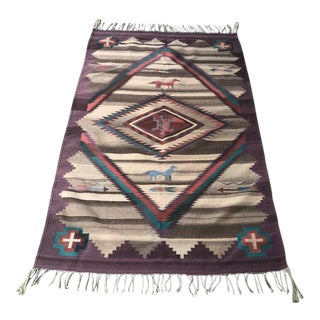 1970s Vintage Navajo Style Rug - 3′11″ × 1″ For Sale