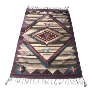 1970s Vintage Navajo Style Rug - 3′11″ × 1″