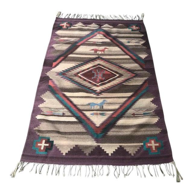 1970s Vintage Navajo Style Rug - 3′11″ × 1″ For Sale