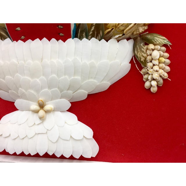 Paint Vintage Folk Art Seashell Fruit Basket Painting in Frame For Sale - Image 7 of 11