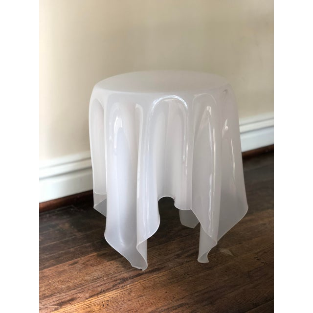 White Acrylic Handkerchief Table For Sale - Image 8 of 13