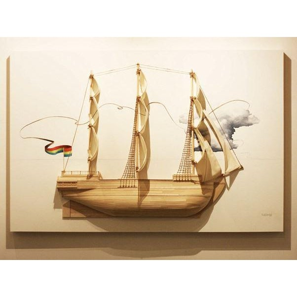 Weston Jandacka 'Sail Boat No. 2' 3D Sculpture Painting For Sale - Image 12 of 13