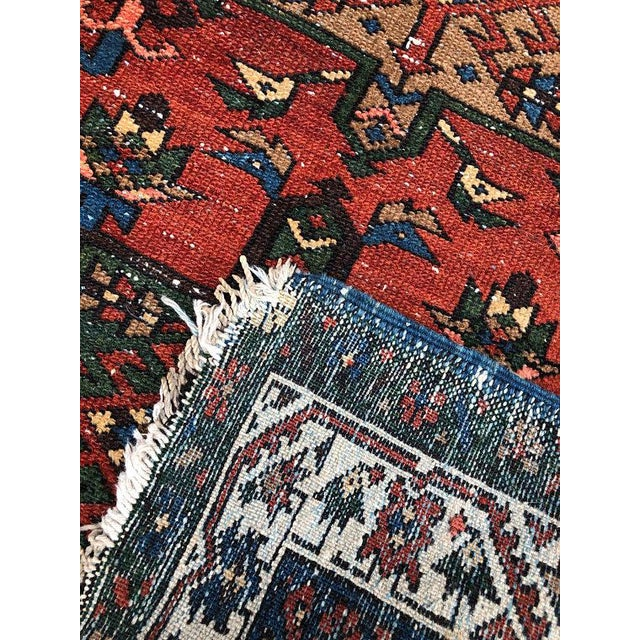 "Blue Vintage Karajeh Wool Runner Rug - 2'10""x11'2"" For Sale - Image 8 of 10"