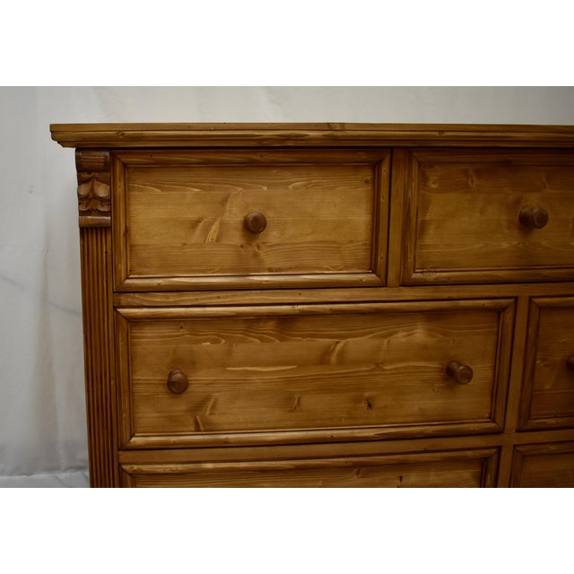 Pine Chest of Seven Drawers For Sale In Washington DC - Image 6 of 9