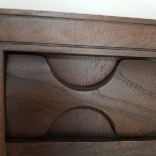Kent Coffey Mid-Century Sculptural Walnut Wall Mirror For Sale - Image 4 of 8