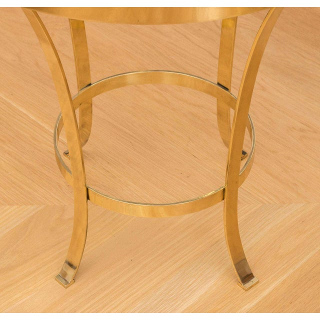 Polished Brass Occasional Table For Sale - Image 4 of 7
