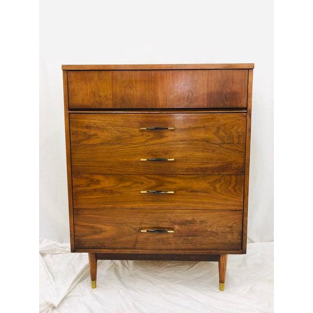 Vintage Mid Century Modern Tall Dresser Chest Chairish