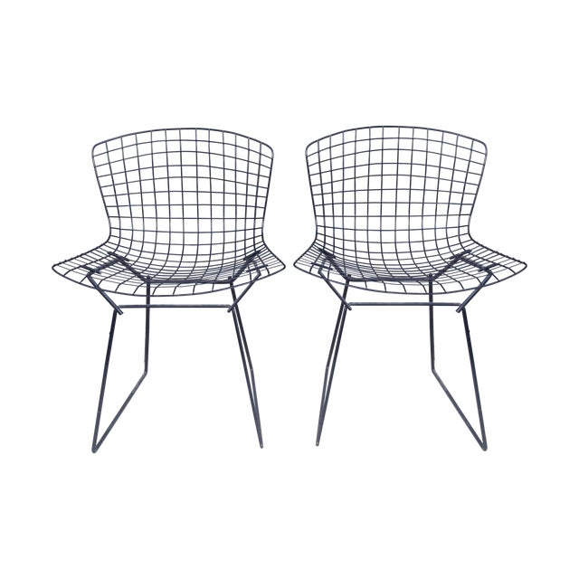 Harry Bertoia Black Side Chairs - Pair - Image 1 of 7