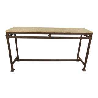 Stylish Modern Marble-top Console Table