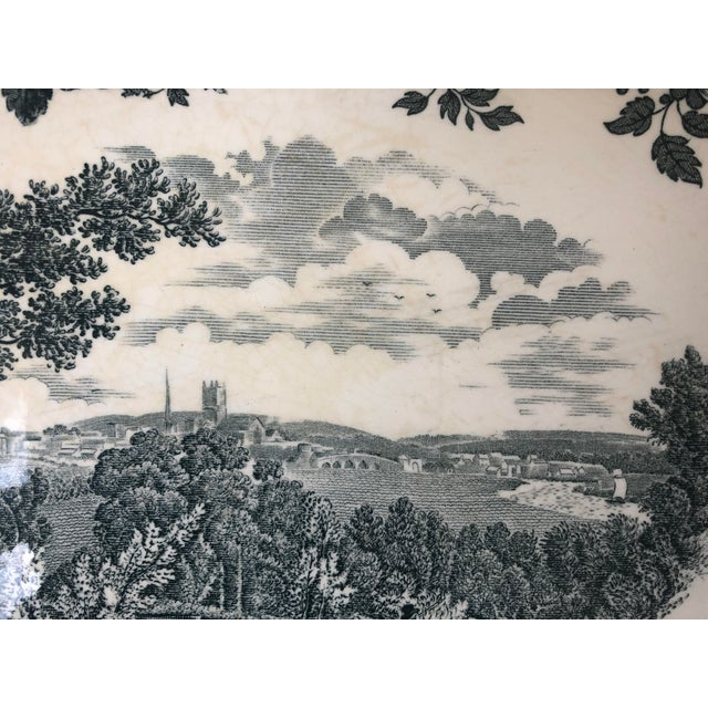 """Royal Worcester Royal Worcester Palissy """"Avon Scenes"""" Hand Engraved Porcelain Platter For Sale - Image 4 of 10"""