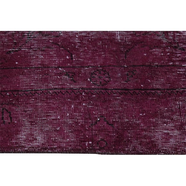 """Cotton Modern Industrial Style Distressed Over-Dyed Persian Tabriz Rug - 9'3"""" x 12'1"""" For Sale - Image 7 of 13"""