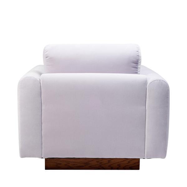 Harvey Probber Lavender Velvet Club Chairs - Pair - Image 4 of 10
