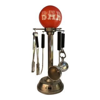 Mid-Century Electric Swivel Display Barware Tools For Sale