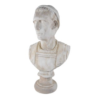 19th-Century Italian Classical Roman Bust of Emperor For Sale