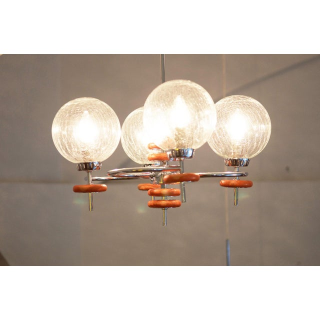 Mid-Century Modern Austrian ceiling lamp, 1970s For Sale - Image 3 of 8