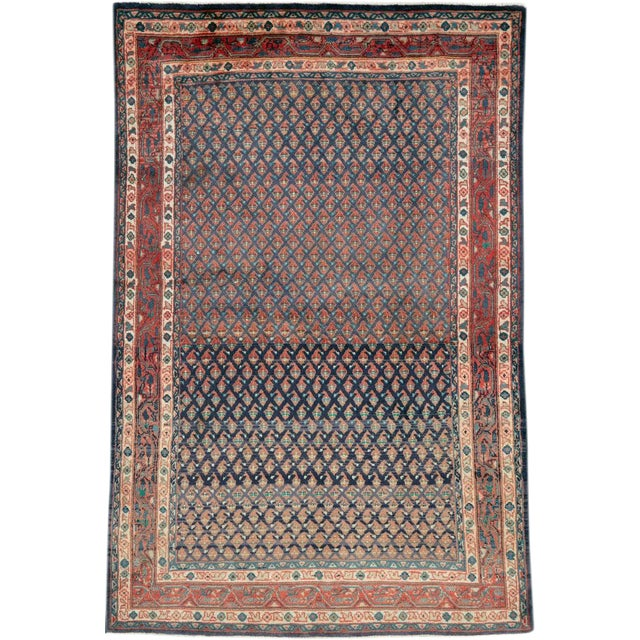 "Vintage Persian Malayer Rug – Size: 3'4"" X 5' 1"" For Sale"
