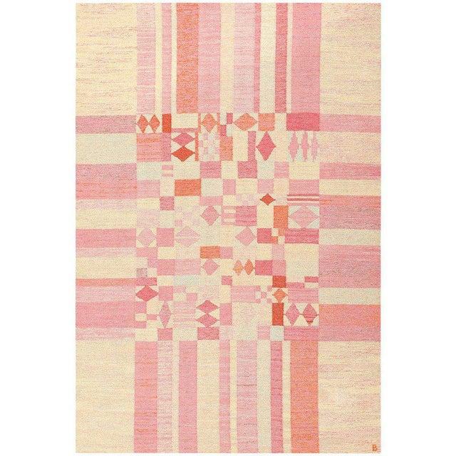 Textile Vintage Scandinavian Swedish Kilim Rug - 5′10″ × 8′8″ For Sale - Image 7 of 7