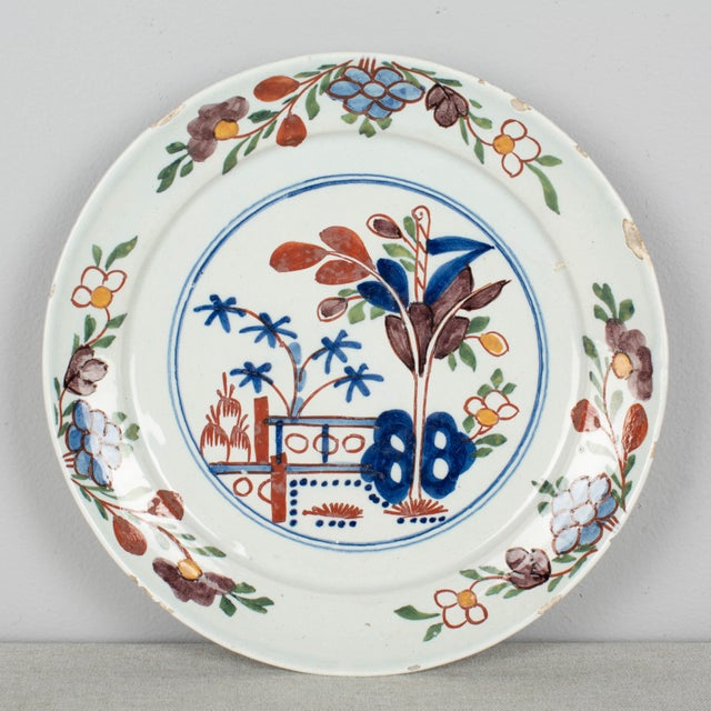 18th Century Delft Ceramic Plate For Sale In Orlando - Image 6 of 6