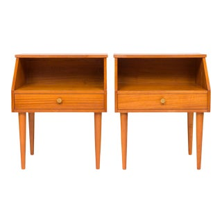 Danish Mid-Century Teak Nightstand - a Pair For Sale