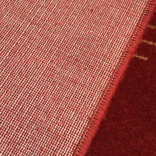 Prado Epos Red Wool Area Rug - 6′6″ × 9′10″ For Sale - Image 5 of 8
