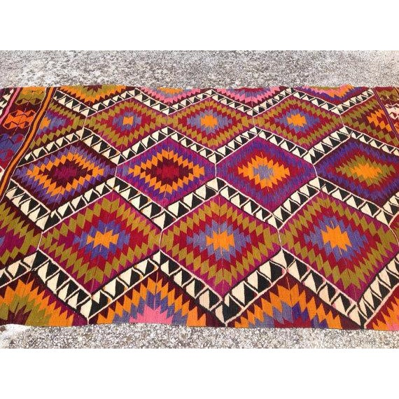 Vintage Turkish Kilim Rug - 4′5″ × 7′6″ - Image 4 of 6