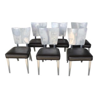 Cessna Aircraft Company Aluminum Chairs- Set of 6 For Sale