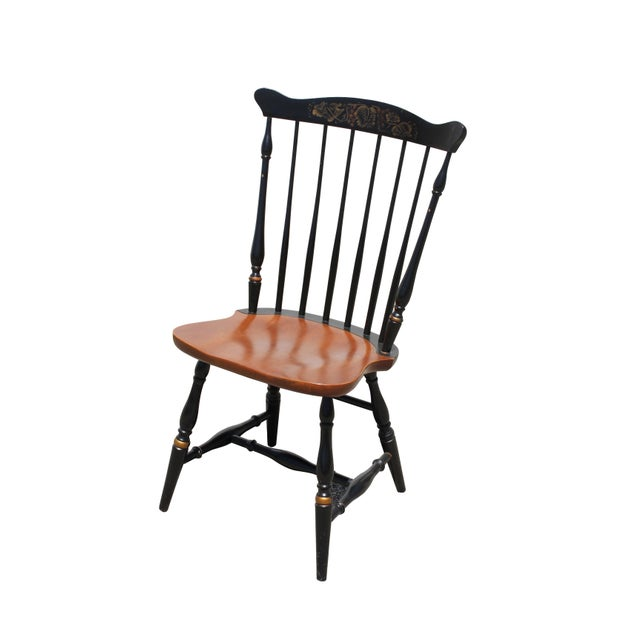 Antique Hitchcock Primitive Dining Chairs - Set of 6 For Sale In Boston - Image 6 of 11