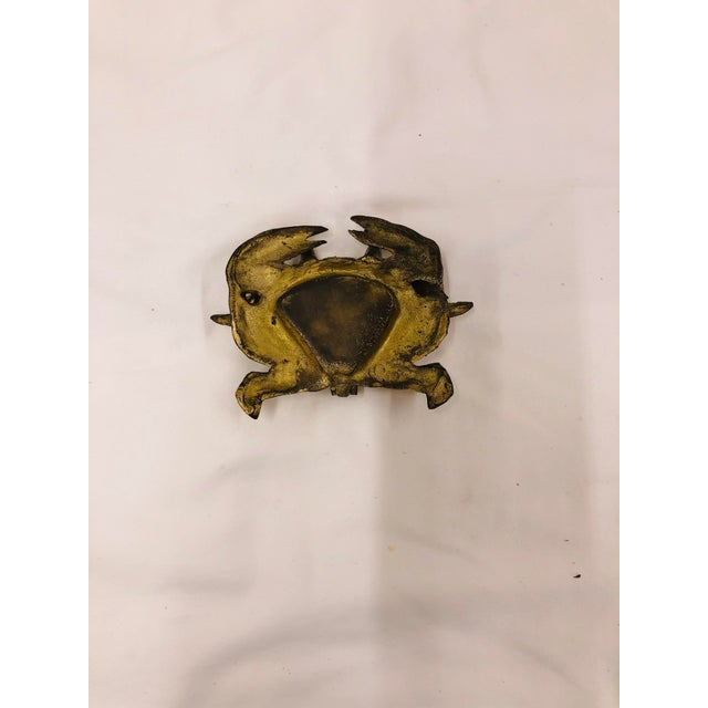 Figurative Late 20th Century Brass Crab Trinket Box For Sale - Image 3 of 4