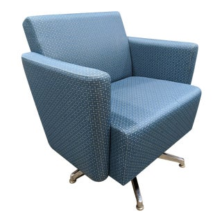 National Furniture Company Fringe Swivel Club Chair For Sale
