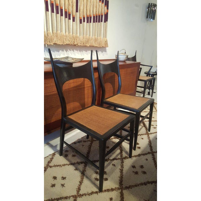 Set of Eight Edward Wormley 5580 Dining Chairs for Dunbar, 1950s For Sale - Image 9 of 13