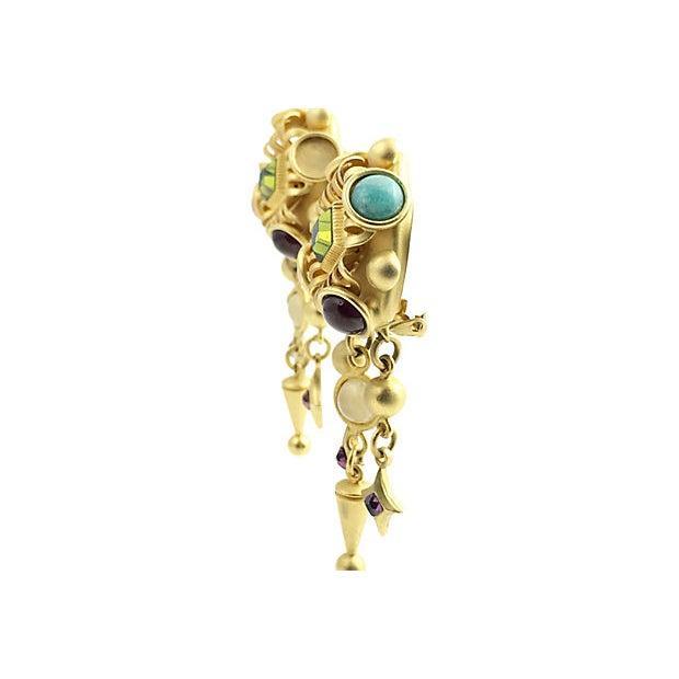 Mediterranean Natasha Stambouli Chandelier Earrings For Sale - Image 3 of 8
