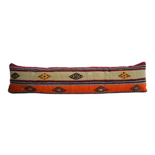 Wedding Pillow - Lumbar Pillow Cover Hand Woven Kilim - 12ʺ X 48ʺ For Sale
