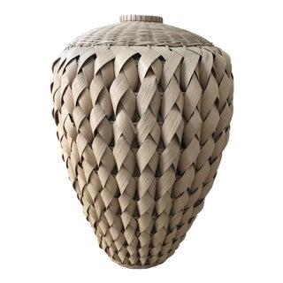 Large Handmade Woven Urn