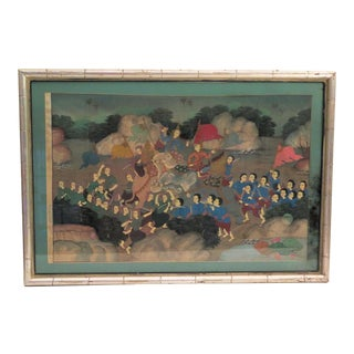 1950's Thai Cultural Painting For Sale