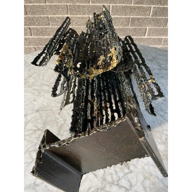 1970s Italian Brutalist Metal Sculpture by Marcello Fantoni For Sale - Image 11 of 13